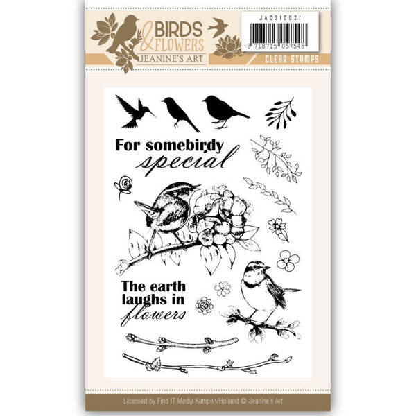 Clearstamp - Jeanine's Art - Birds and Flowers