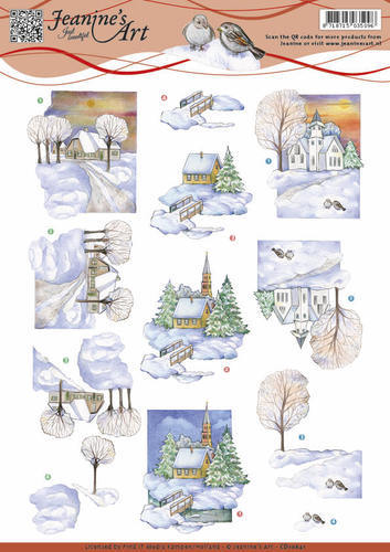 Jeanine`s Art - Winter landscape 2