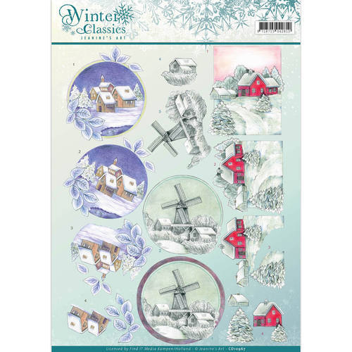 3D Knipvel - Jeanine's Art - winter classics- Christmas Landscapes