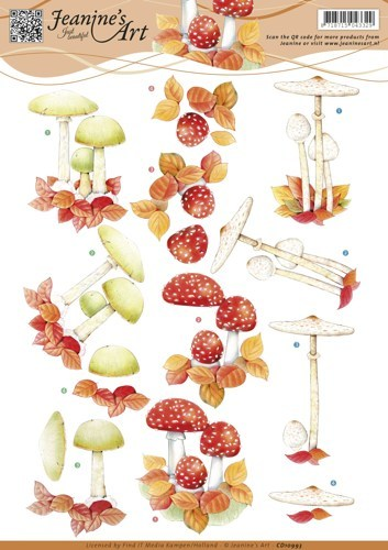 3D knipvel - Jeanine's Art - Autumn mushrooms