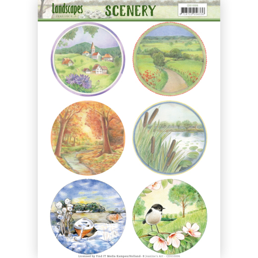 Die Cut Topper - Scenery - Jeanine's Art - Landscapes - Landscape Circle