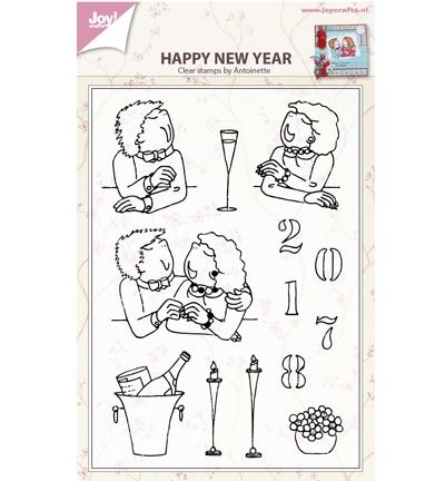 Clear stamp Happy new year by antoinette