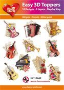 Easy 3D-Toppers Music-Instruments