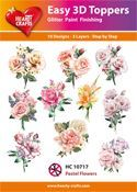 Easy 3D-Toppers Pastel Flowers