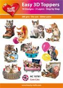 Easy 3D-Toppers Cute Cats