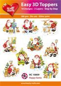 Easy 3D-Toppers Happy Santa