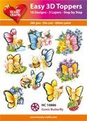 Easy 3D-Toppers Comic Butterfly