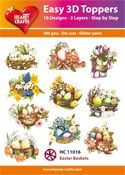 Easy 3D-Toppers Easter Baskets
