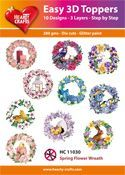 Easy 3D-Toppers Spring Flower Wreath