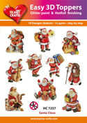 Easy 3D-Toppers Santa Claus
