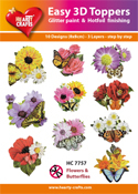 Easy 3D-Toppers Flowers & Butterflies