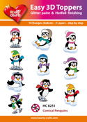 Easy 3D-Toppers - Comical Pinguins