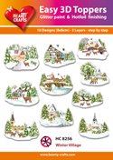 Easy 3D-Toppers - Winter Village