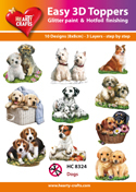Easy 3D-Toppers Dogs