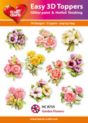 Easy 3D-Toppers Garden Flowers