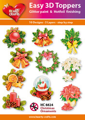 Easy 3D-Toppers Christmas Ornaments