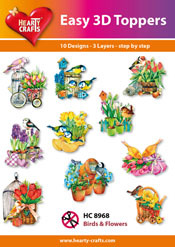 Easy 3D-Toppers - Birds & Flowers