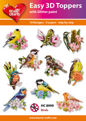 Easy 3D-Toppers Birds