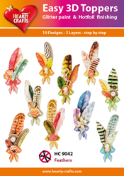 Easy 3D-Toppers Feathers