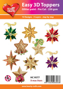 Easy 3D-Toppers X-mas Stars