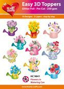 Easy 3D - Flowers in Watering Can