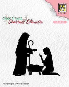 Christmas silhouette clear stamps Nativity-2