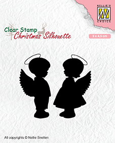 Christmas silhouette clear stamps Angelgirl and -boy
