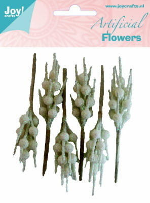 Artificial Flowers Deco wit-glitter
