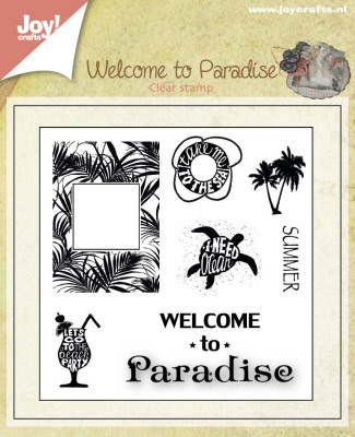 Stempel - Welcome to paradise - groot