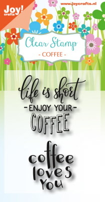 Clearstempel - Coffee txt - Enjoy