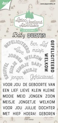 Clearstamps - Dendennis - Baby quotes