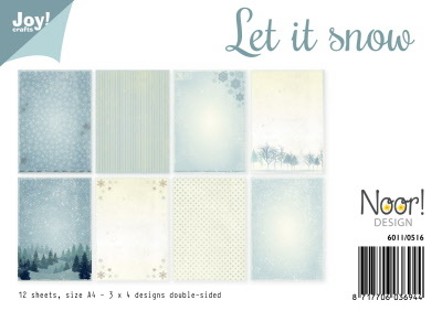 Papierset - Let it snow
