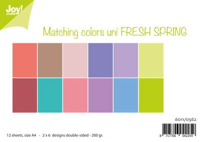 Papierset Matching Colors uni - Fresh Spring