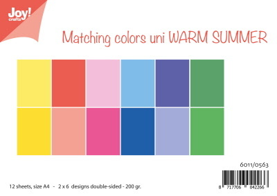 Papierset Matching Colors uni - Warm Summer