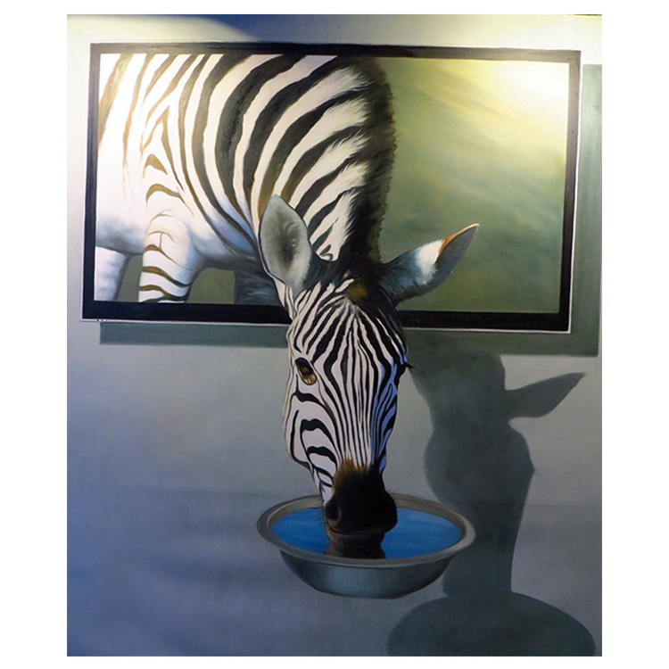 01-51403 Diamond Painting ronde steentjes zebra