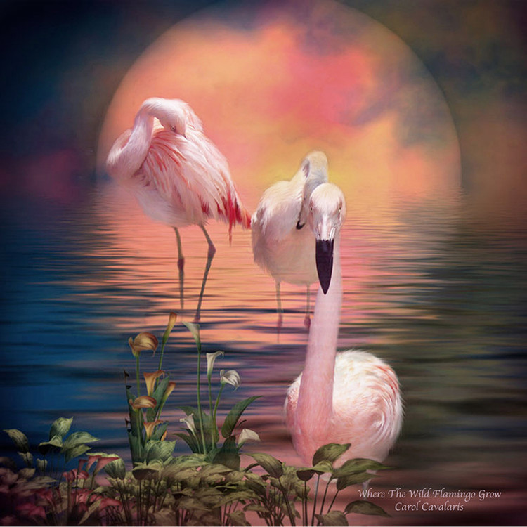 01-51527 Diamond Painting ronde steentjes flamingo
