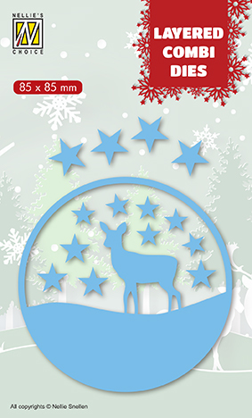 LCDCD003 Layered combi Dies Christmas deer (Layer C)