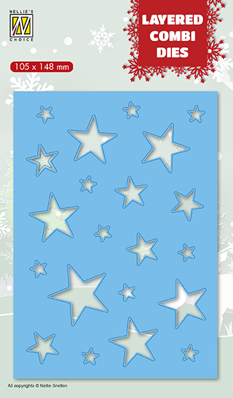 LCDCS002 Layered combi Dies Christmas stars (Layer B)