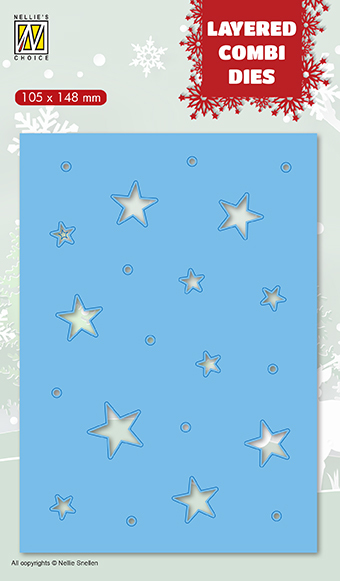 LCDCS003 Layered combi Dies Christmas stars (Layer C)