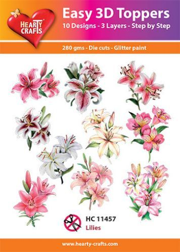 Easy 3D-Toppers Lilies