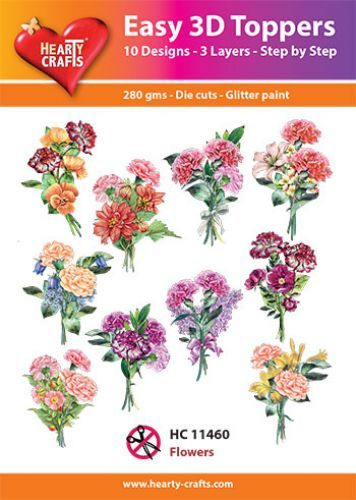 Easy 3D-Toppers Flowers