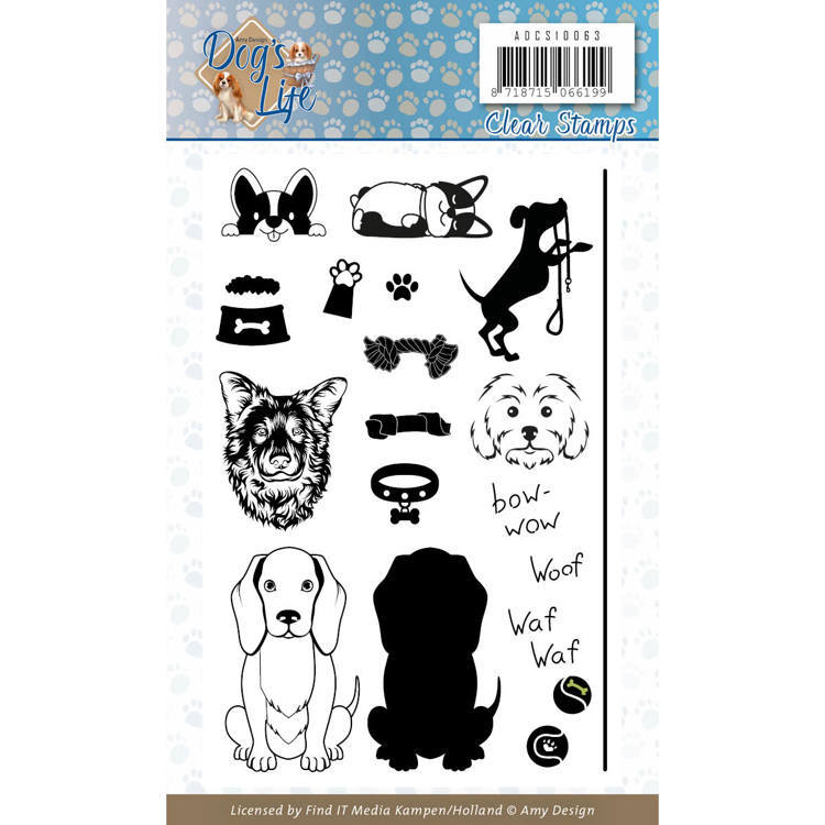 Clear Stamps - Amy Design - Dog's Life