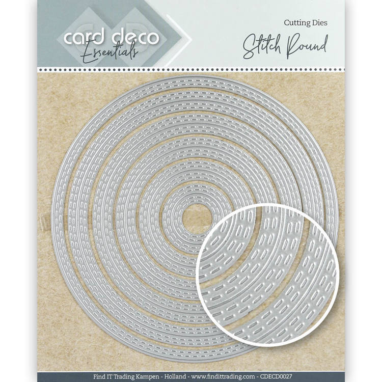 Card Deco Essentials Cutting Dies Stitch Round