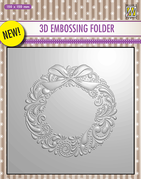 3D embossing Folders Christmas wreath