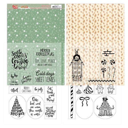 YCMC1003 Mica Sheets - Yvonne Creations - Sweet Christmas (HJ175)