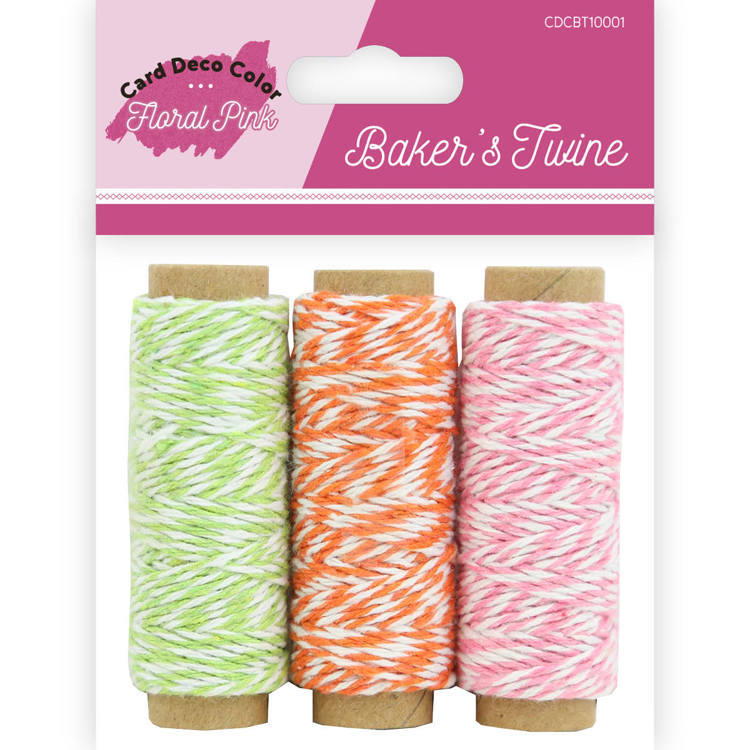 CDCBT10001 Bakers Twine - Yvonne Creations - Floral Pink