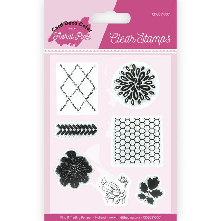CDCCS10001 Clear Stamps - Yvonne Creations - Floral Pink