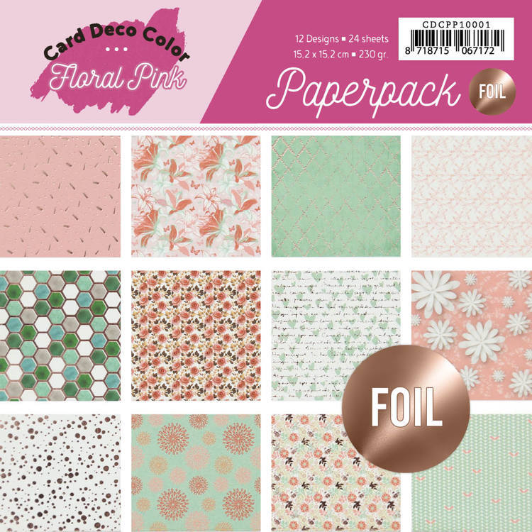 CDCPP10001 Foiled Paperpack - Yvonne Creations - Floral Pink