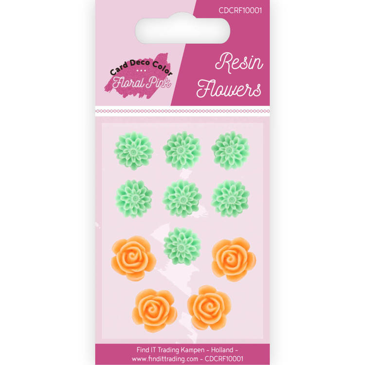 CDCRF10001 Resin Flowers - Yvonne Creations - Floral Pink