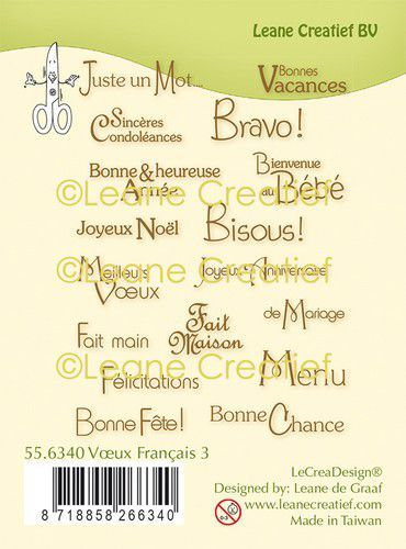 LeCreaDesign® combi clear stamp Franse teksten 3.